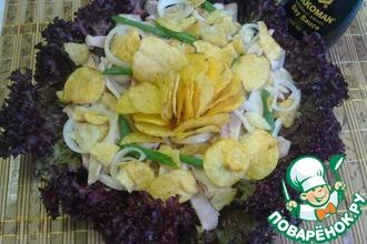 Рецепт: Салат с кальмарами и соевым соусом