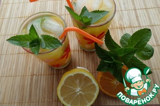 Рецепт: Мятно-цитрусовый напиток