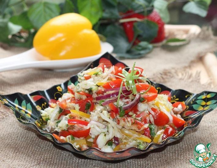 Рецепт: Салат из свежей капусты с семечками