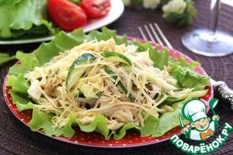 Рецепт: Салат из куриного филе с огурцами