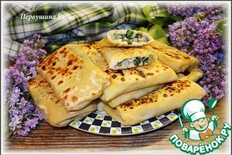 Рецепт: Пирожки из тонкого теста с рисом и зеленью