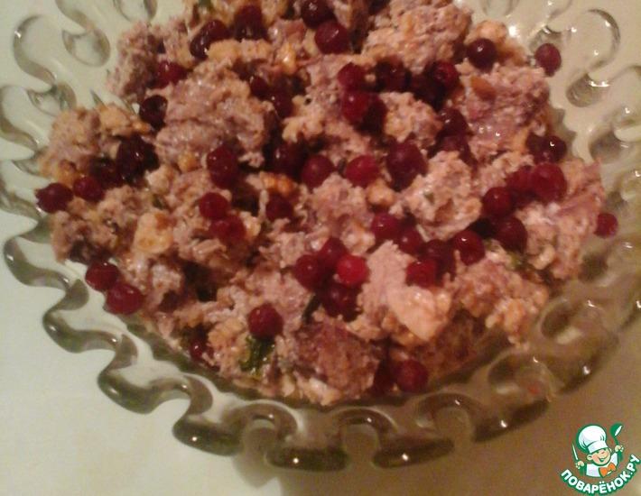 Рецепт: Салат с говядиной и грецкими орехами