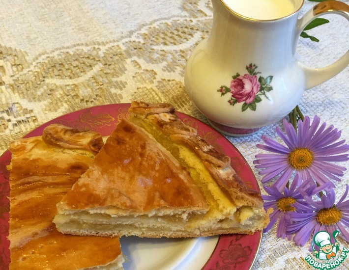 Рецепт: Лимонно-яблочный пирог