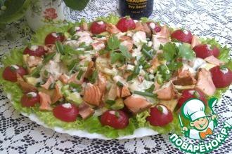 Рецепт: Салат с горбушей и овощами