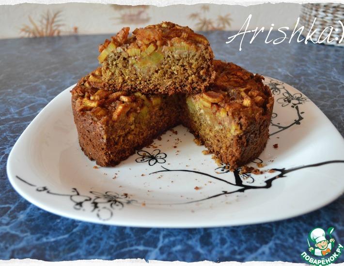 Рецепт: Диетический пирог из ревеня
