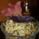 Фунчоза с овощами и шиитаке