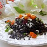 Салат из чёрной чечевицы
