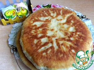Рецепт Быстрый сырный пирог на сковороде