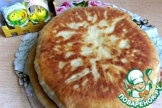 Рецепт: Быстрый сырный пирог на сковороде