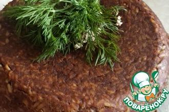 Рецепт: Печеночный пирог с рисом в мультиварке