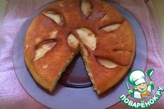 Рецепт: Шарлотка с яблоками на сковороде