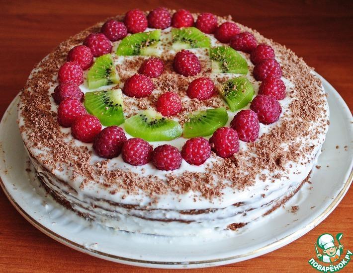 Рецепт: Торт с творожным кремом