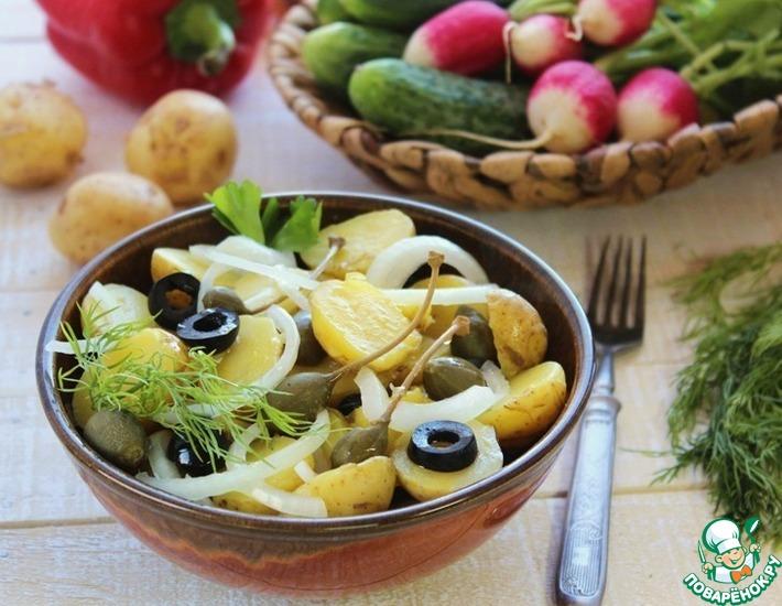 Рецепт: Салат с молодым картофелем