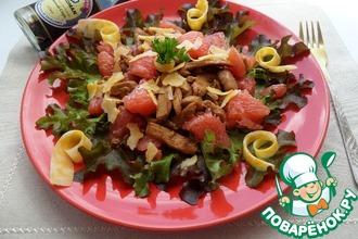 Рецепт: Салат с курицей, грейпфрутом и сыром