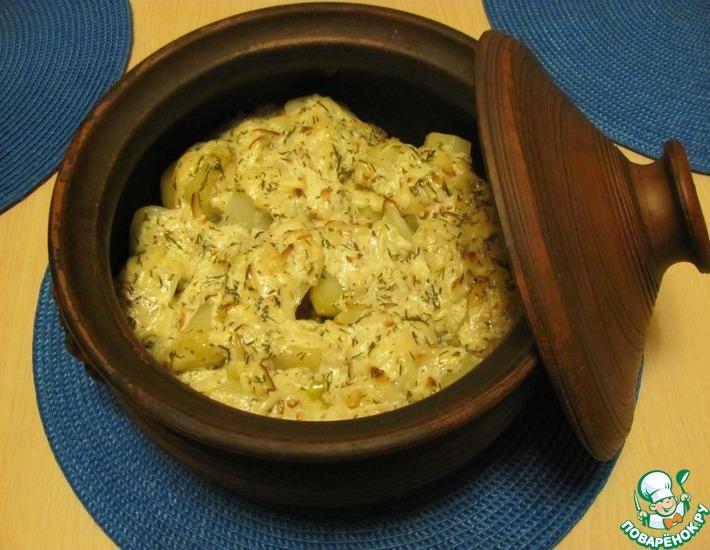 Рецепт: Жаркое Вкуснота в глиняном горшке
