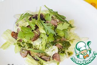 Рецепт: Салат из баранины-гриль с мятной заправкой