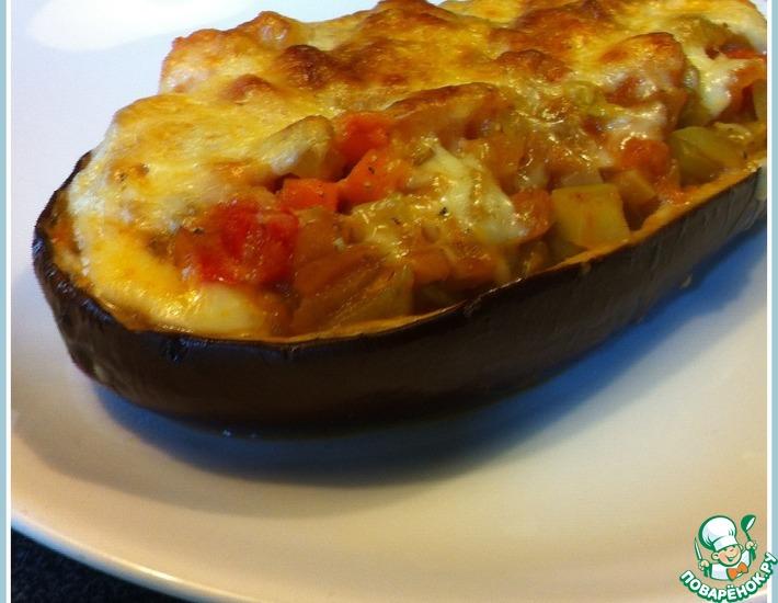 Рецепт: Баклажаны, фаршированные овощами