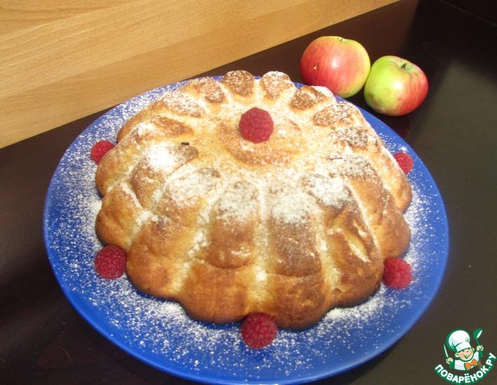 Рецепт: Творожно-яблочная запеканка с кукурузными хлопьями