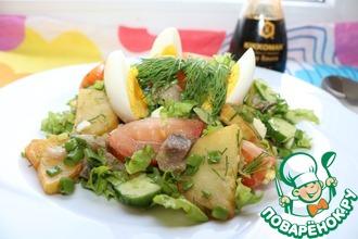 Рецепт: Салат Овощная скумбрия
