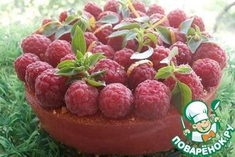 Рецепт: Живой желейный торт «Малиновое чудо»