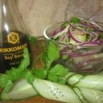 Салат из огурцов и красного лука