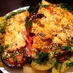 Слоёная курица с овощами