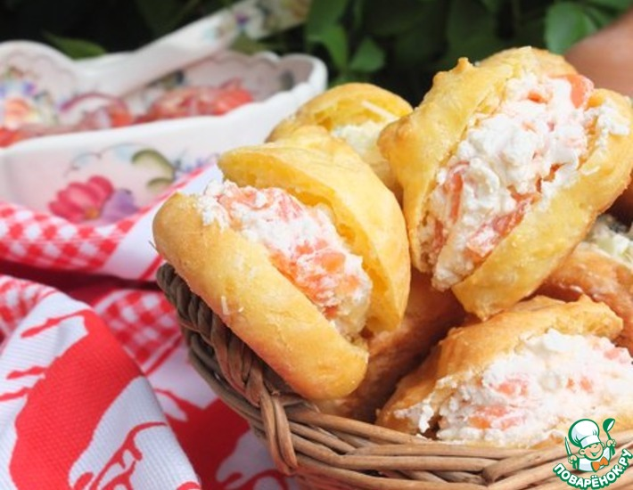 Рецепт: Французские булочки Гужеры с начинкой