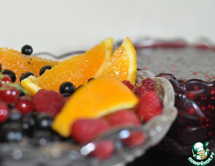 Рецепт: Варенье из ягод с апельсином Царское
