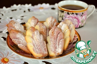 Рецепт: Мадленки сливочно-вишневые