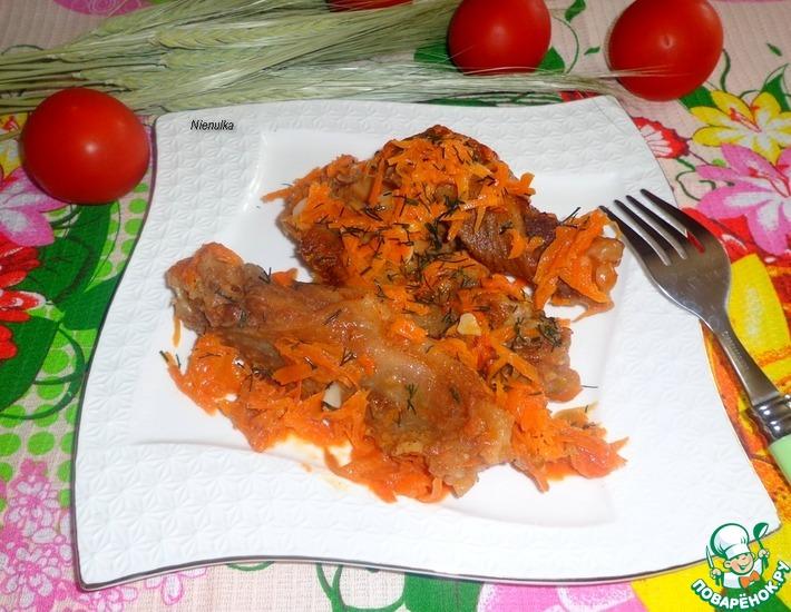 Рецепт: Крылышки тушеные в томатном соке