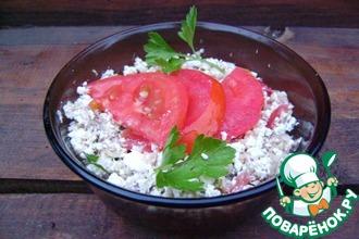 Рецепт: Творожный салат Рыбный