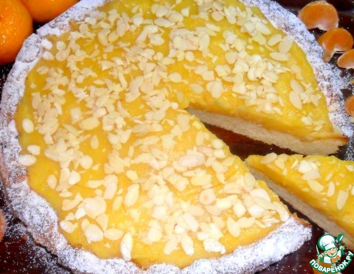 Рецепт: Тарт с мандариново-лимонным муссом