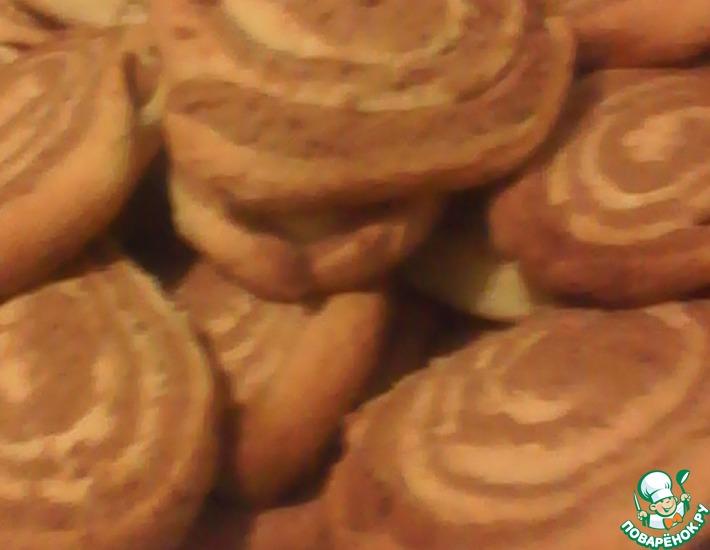 Рецепт: Печенье Полосатики