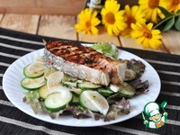 Салат с лососем-гриль под тайским маринадом ингредиенты