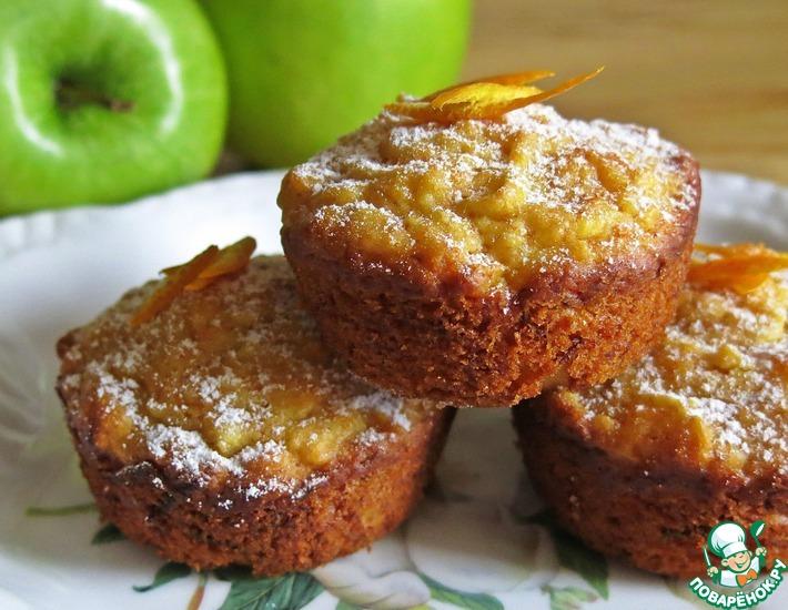 Рецепт: Постный яблочно-морковный кекс