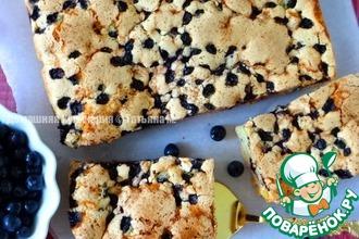 Рецепт: Пирог с черникой Паутинка