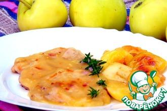 Рецепт: Отбивные в яблочном соусе