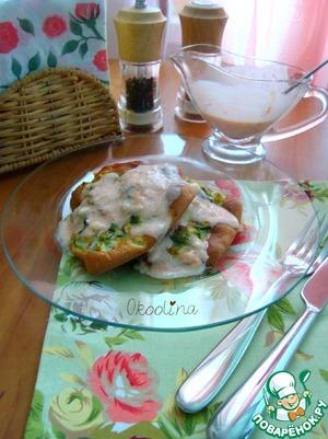 Рецепт Оладьи кабачковые с соусом из томатного сока