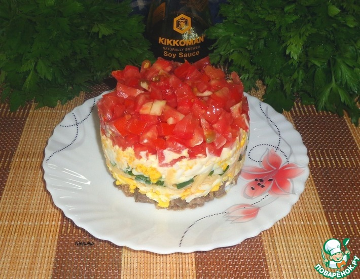 Рецепт: Яичный салат Острый