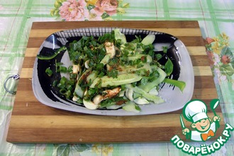 Рецепт: Корейский салат из огурцов и кинзы