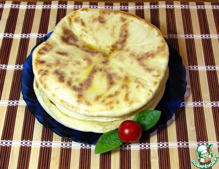 Рецепт: Грузинские лепёшки с сыром Хачапури