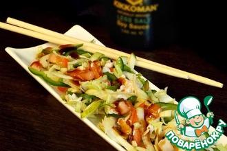 Рецепт: Салат с курицей по-китайски