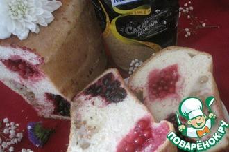 Рецепт: Хлеб-пирог со смородиной