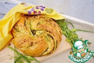 Рецепт: Хлеб с чесночными стрелками