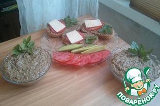Рецепт: Домашний сливочный паштет из утиной печени