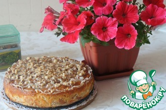 Рецепт: Израильский мокрый яблочный пирог
