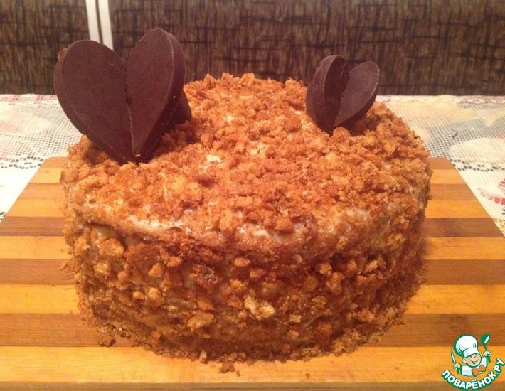 Рецепт: Торт Медовик сердца