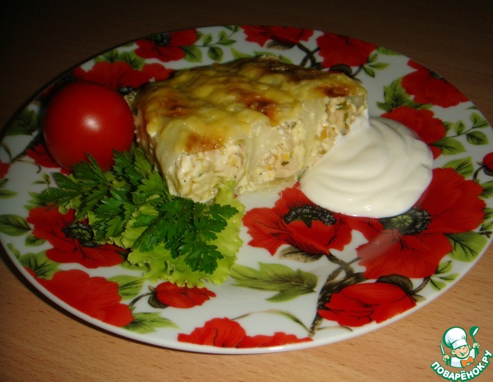 Рецепт: Капустный пирог-запеканка