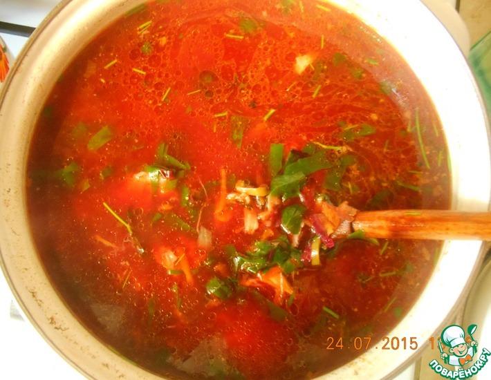 Рецепт: Ботвинья Лето красное