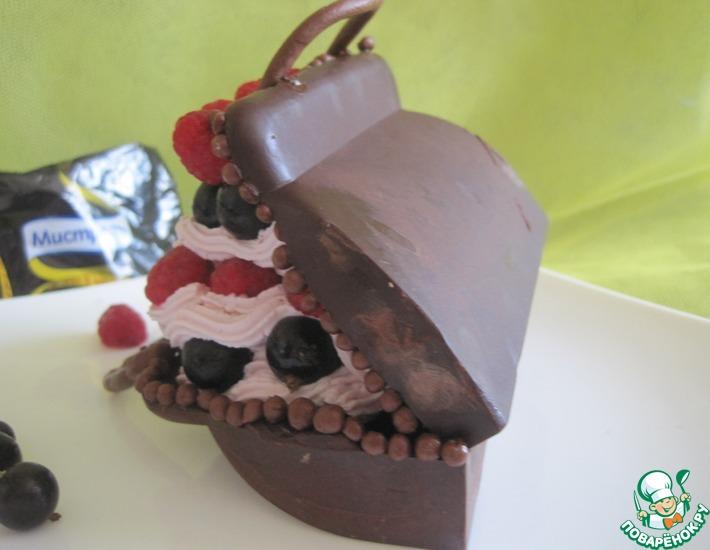 """Творожная масса с ягодами в """"чемодане"""""""